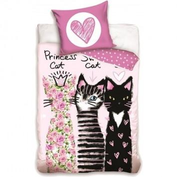 Lenjerie de pat tineret Princess Cat